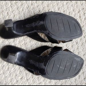 Naturalizer Shoes - Black Naturalizer Open Back Heeled Sandals